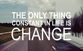 constante in het leven is verandering